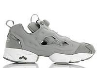 Женские кроссовки Reebok Instapump Fury -  Grey\White, материал - замша, подошва - пена (легкая и удобная)