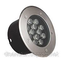 Світильник грунтовий QК-12 LED 12W 6000K 230V IP65 розмір 160мм * 90мм, фото 2