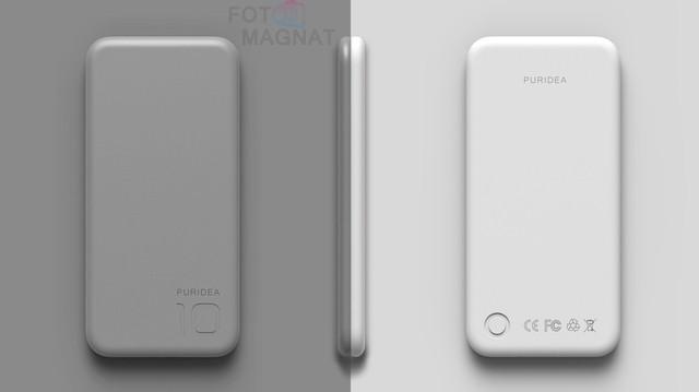 Puridea S2 10000Mah Gray and White