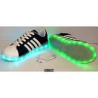Светящиеся кеды, кроссовки, зарядка от USB, 38 размер, 11 режимов LED подсветки, 107-79-83