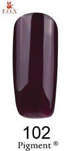 Гель-лак F.O.X 102 Pigment темно-бордовый, 6 ml