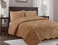 Меховый стеганный набор на кровать, евро размер , фото 1