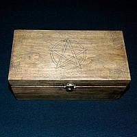 Шкатулка большая Пентаграмма (21×11 см), фото 1