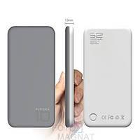 Power Bank Puridea S2 10000 mAh Gray and White — Повербанк, Портативная зарядка, УМБ