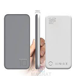 Power Bank — Puridea S2 10000 mAh Gray and White