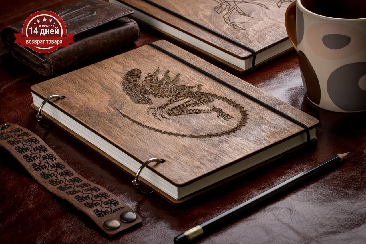 Блокнот А5. Скетчбук. Блокнот с деревянной обложкой. Блокнот в деревянном переплете.