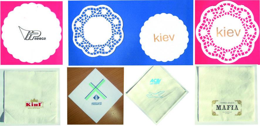 Салфетки с логотипом ажурная, фото 2
