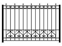Забор из металла с кованными элементами | Заборы из металла купить | Цена на забор из металла от производителя, фото 1
