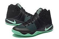 "Баскетбольные кроссовки Nike Kyrie 2 BHM ""Green Glow"" Black/Green. Живое фото (аир кари)"