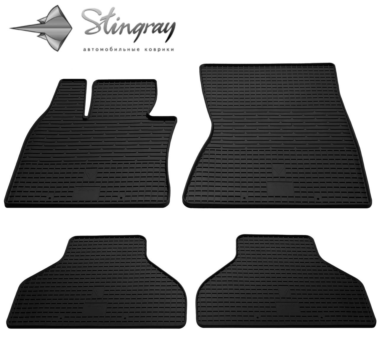 Резиновые коврики Stingray Стингрей BMW X5 (E70) 2007-2012 Комплект из 4-х ковриков Черный в салон - Stingray® официальный магазин производителя резиновых автоковриков. в Львове