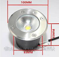 Cветильник грунтовый QR-01 LED COB 12W 230в размер:D100 * 83 мм  IP 67  6000К, фото 5