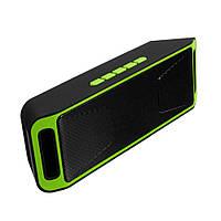 Портативная bluetooth колонка MP3 плеер UKC SC-208 BT Green, фото 1