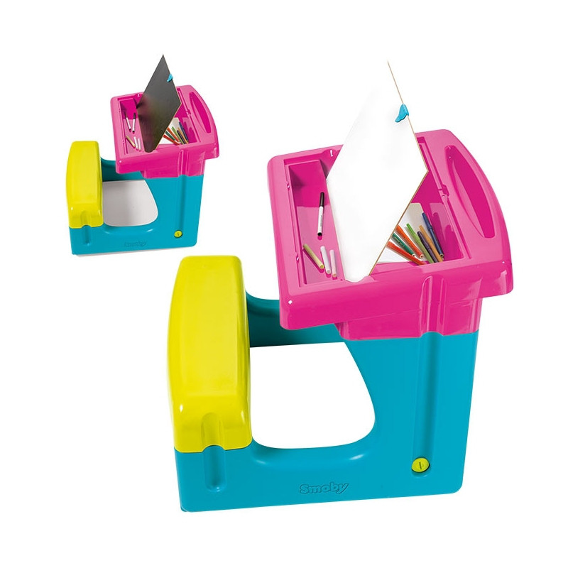 Детская парта с двухсторонней доской для рисования Smoby 420102