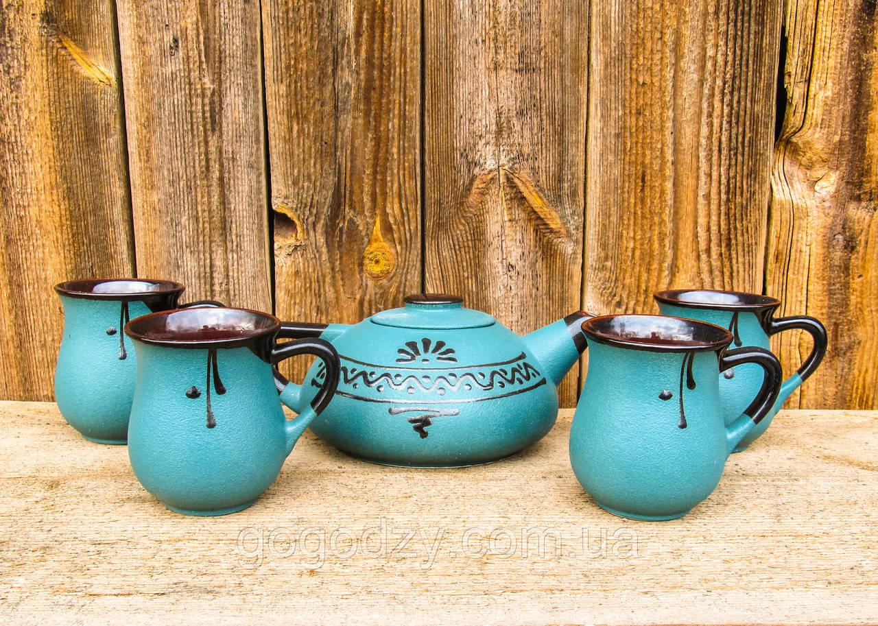Чайний набір великий на 4 особи зелений