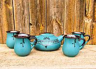 Чайний набірна 4 особи зелений