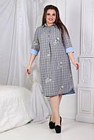 Нарядное женское платье- рубашка ,размеры 50-56, фото 1