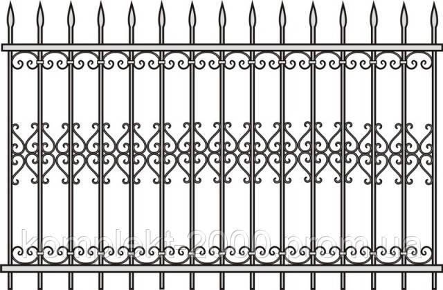 Железные заборы с ковкой   Железные заборы купить   Цена на железные заборы от изготовителя