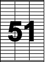 Бумага самоклеящаяся SAPRO на листах A-4 (51 на листе  70х16,9 мм)