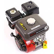 Двигатель бензиновый BULAT BW170F-Q (7 л.с., вал 19мм, шпонка), фото 3