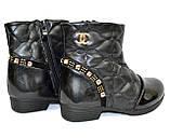 Ботинки демисезонные для девочки, черный цвет. Размер: 27,28, фото 9