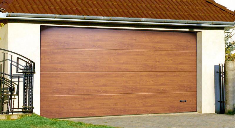 Ворота гаражні Алютех Prestige 4750x2400 L-гофр smooth