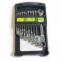 Набор ключей с трещоткой 11 предметов Alloid НК-2081-11К