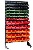 Напольный стеллаж односторонний 1.8 м с ящиками  Комбинированный