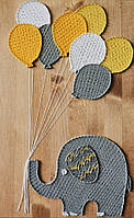 Картина String Art Слоник с шариками 35х55 см