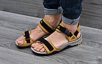 Мужские босоножки Adidas 43 44 45р. Черные с Желтым, фото 1