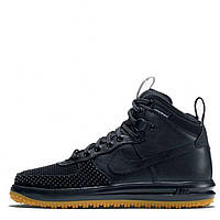 Кроссовки Nike Lunar Force 1 Duckboot Black Gum (топ реплика)