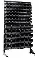 Напольный стеллаж односторонний 1.8 м с ящиками  Чёрный
