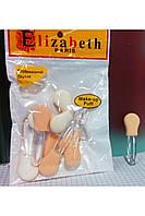 """Набор аппликаторов  для макияжа """" Elizabeth Paris """"10 шт"""