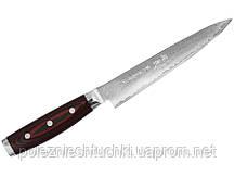 Нож для нарезки 18 см. ручка из Канва-Микарта Плюс черная Super Gou, Yaxell