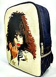 Джинсовый рюкзак КИСС 2, фото 2