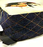 Джинсовый рюкзак КИСС 2, фото 4