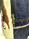 Джинсовый рюкзак КИСС 2, фото 5