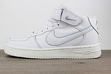 Nike Air Force 1 Mid White, фото 2