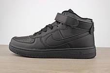 Nike Air Force 1 Mid Black, фото 2