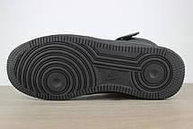 Nike Air Force 1 Mid Black, фото 3
