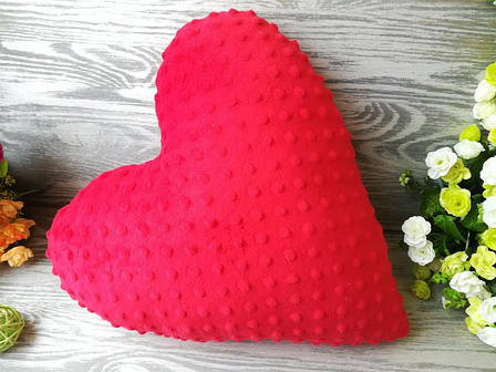Подушка плюшевое сердце ,  39 см * 39 см, фото 2
