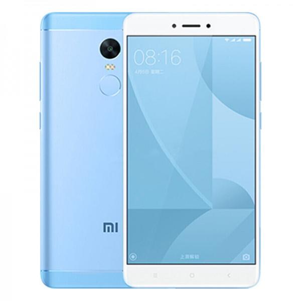 "Смартфон Xiaomi Redmi Note 4X, 4/64Gb Blue, Helio X20, 10 ядер, 13/5Мп, 5.5"", 2Sim, 4100мА, 4G"