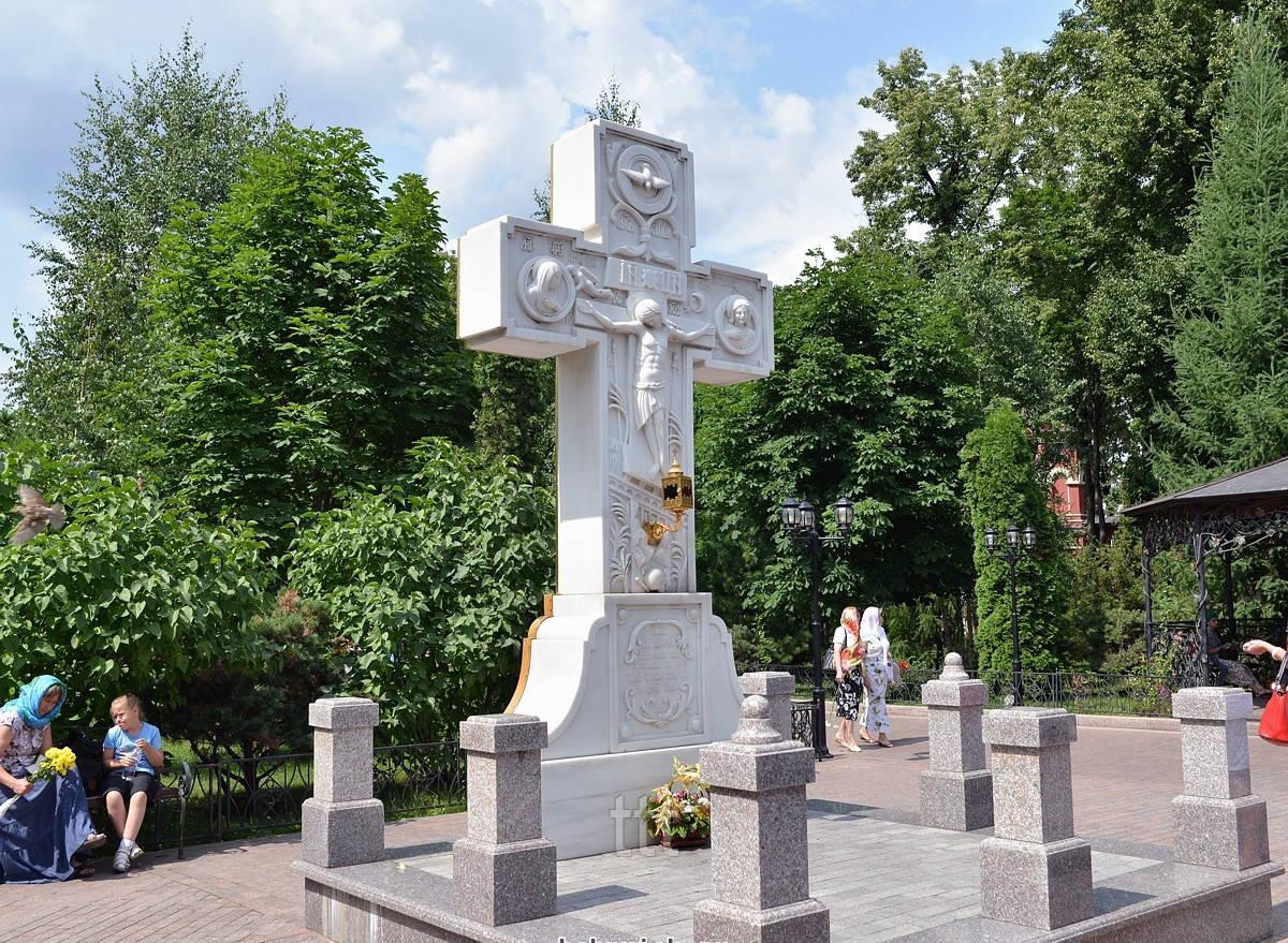 Православный крест с барельефом Иисуса № 8