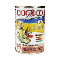Паштет для собак DOG&CO Wellness ЯГНЕНОК И РИС Lamb 400g