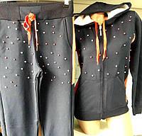 """Спортивный костюм женский с бусинами, размеры 42-48 (2 цвета) Серии """"NEW"""" купить оптом в Одессе на 7 км"""