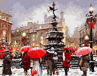 Картина раскраска по номерам на холсте - 40*50см Mariposa Q200 В ожидании Рождества