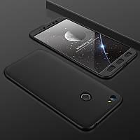 Чехол GKK 360 для Xiaomi Redmi Note 5A Pro / Note 5A Prime 3/32 Бампер Black