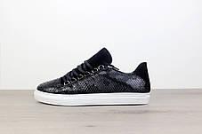 Balenciaga Arena Crocodile Low Top Sneakers Black, фото 3