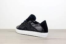 Balenciaga Arena Crocodile Low Top Sneakers Black, фото 2