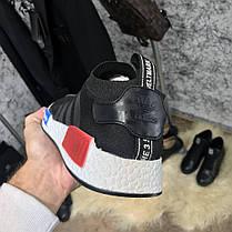 Adidas NMD Runner Primeknit Core Black/Blue/Red, фото 2