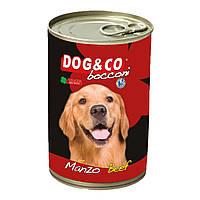 Консерва для собак DOG&CO кусочки говядины Beef 400g